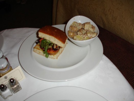 Chicken & Thyme Sandwich from Capitol Grille at The Hermitage Hotel, Nashville TN