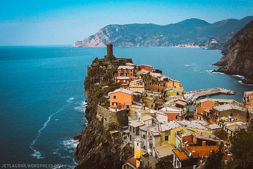 classic shot of vernazza in the cinque terre