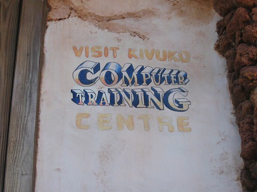 Computer training sign in Africa