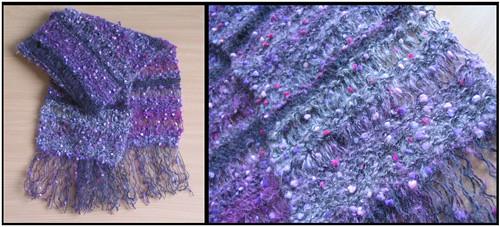 violet shawl