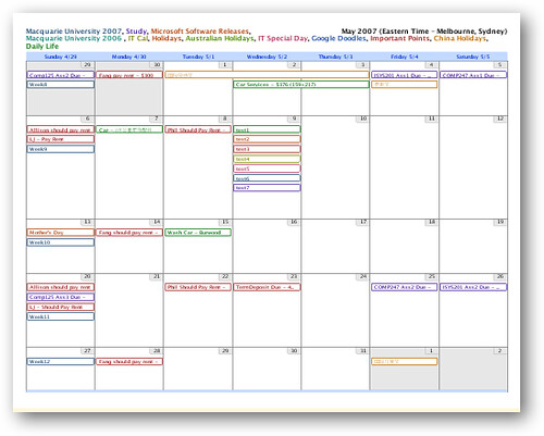 Google Calendar - Print View 2 | Flickr - Photo Sharing!