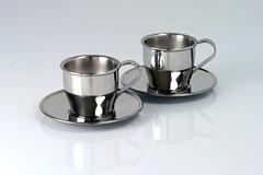 Insulated steel espresso cups