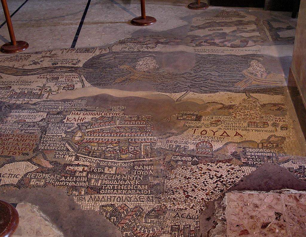 Jordania Madaba Mosaico primer Mapa Mundi Iglesia San Jorge 06