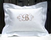 Monogrammed Linen Pillow Sham | Flickr - Photo Sharing!