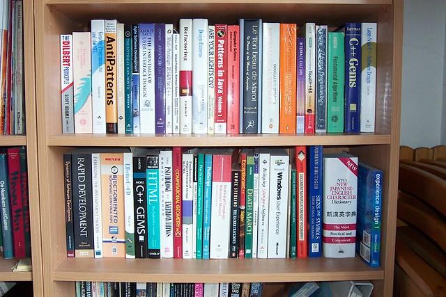 A programmer's bookshelf