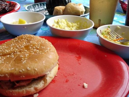 Barbecue Sandwich at Leatha's Bar-B-Que Inn, Hattiesburg MS
