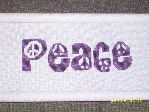 Peace (Stitching the Night Away design)
