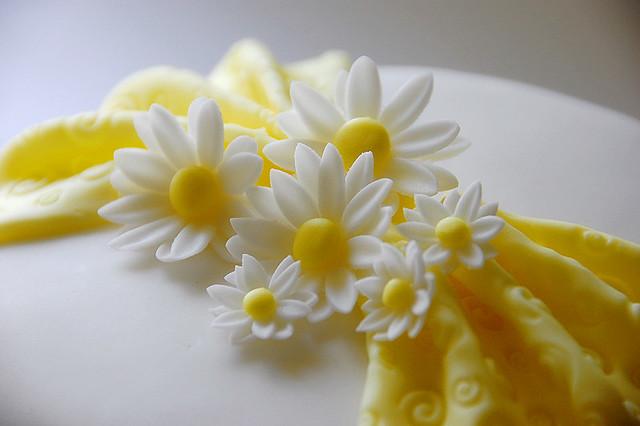 Fondant Daisy Cake  Flickr  Photo Sharing