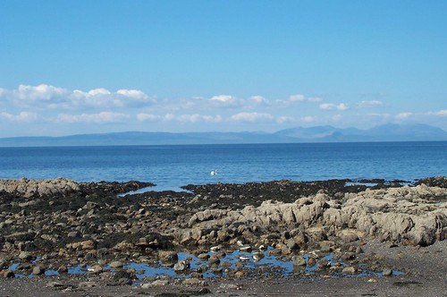 The Beach at Culzean, looking at Arran