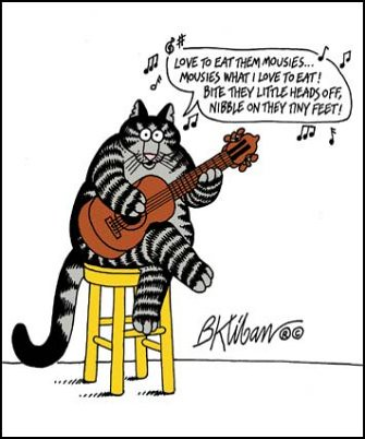Kliban Cat Singing Love To Eat Them Mousies Flickr