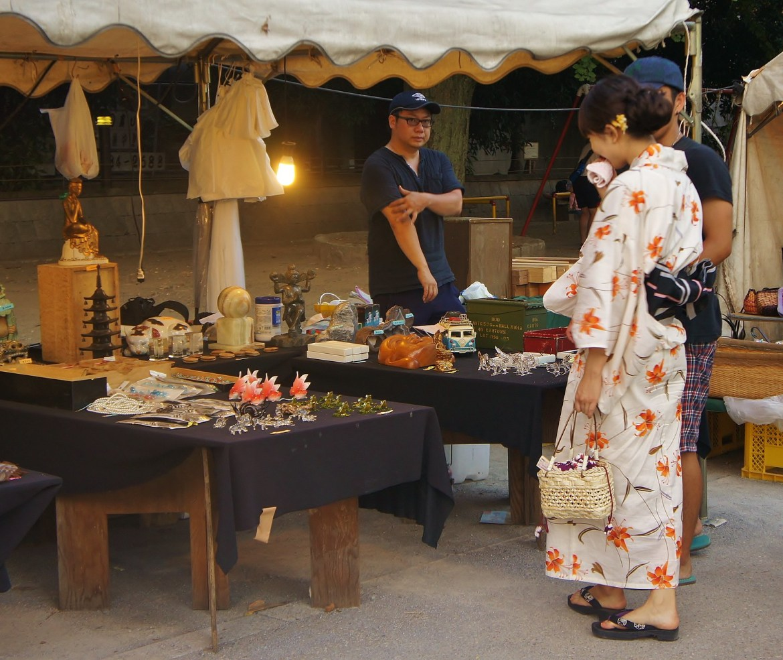Antique shops at Ueno Park