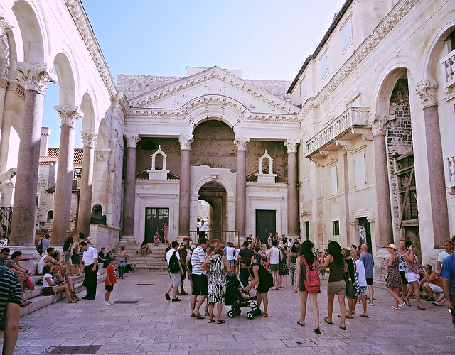 Diocletian's palace, main square, Split, things to do in Split, budget trip to Croatia, UNESCO world heritage site