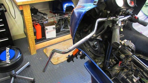 Using Handlebar when Torquing Fork Tube Top Bolt on Opposite Side
