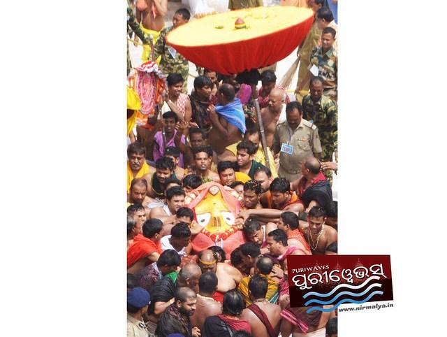 Pahandi Photo Of Maa Subhadra 1st Nabakalebara RathaJatra of Millennium