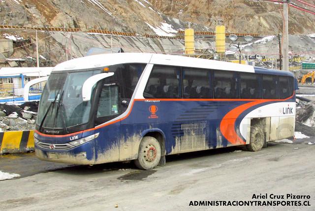 Link Services - Codelco El Teniente - Marcopolo Viaggio 1050 / Mercedes Benz