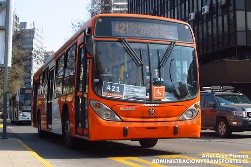 Transantiago - Express de Santiago Uno (U4) - Marcopolo Gran Viale / Scania (CJRS44)