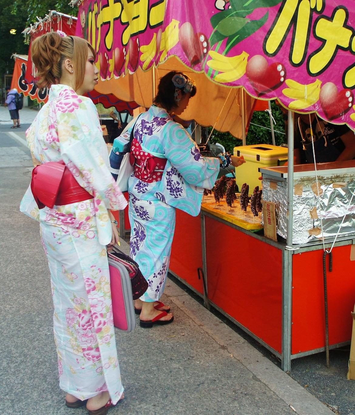Chocolate Banana and Kimono at Ueno Park
