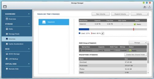 Storage Manager บน QNAP TS-253 Pro