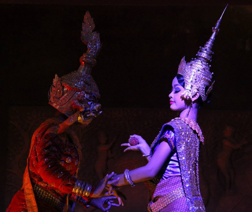 Ramayana and Mahabharata being depicted by apsara dance