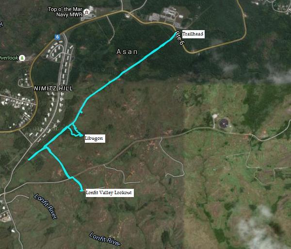 Libugon Trail Map
