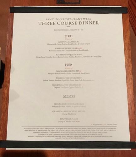The Grill - menu