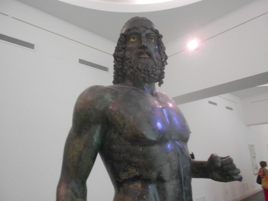 bronzi di Riace, Statua A, probabilmente Tideo o Polinice, museo archeologico nazionale, Reggio Calabria