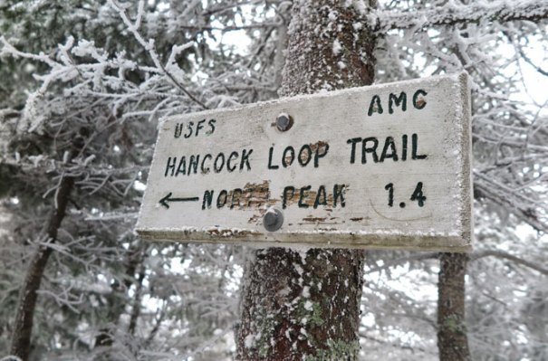 Hancock Loop Trail Sign