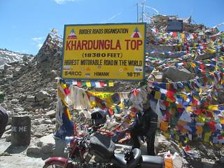 Ritesh at Khardungla Top