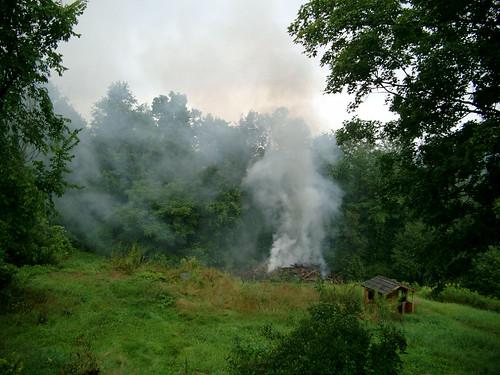 Barn Fire Smoke