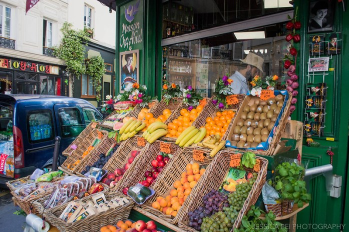Amelie Fruit Stand Montmartre