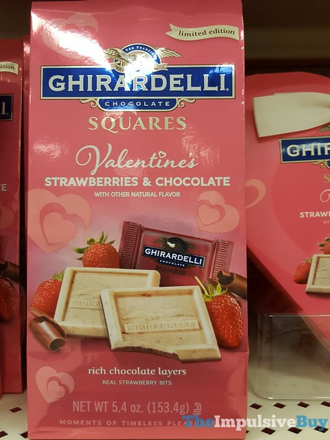 Limited Edition Ghirardelli Valentine's Strawberries & Chocolate Squares