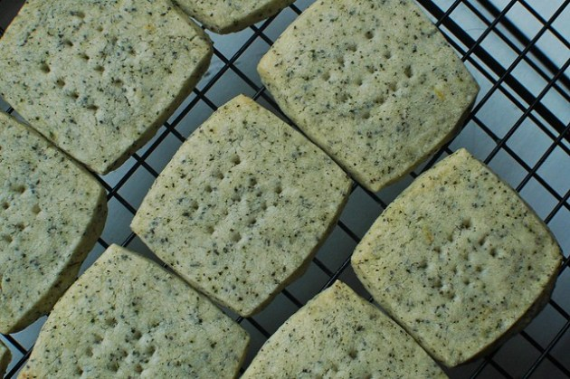 Earl Grey, Lemon & Poppy Seed Shortbread