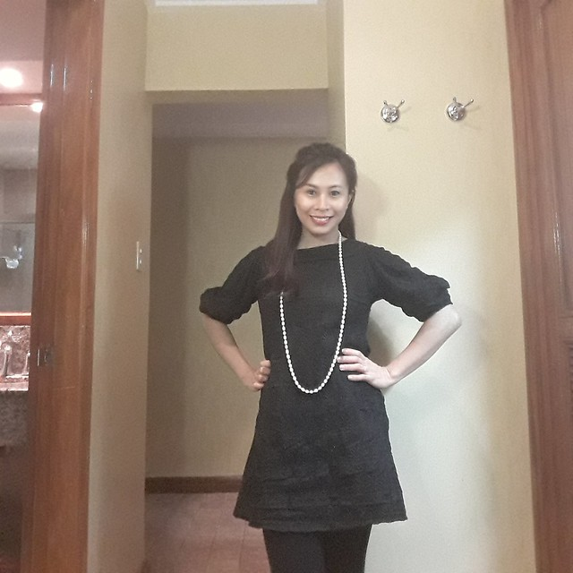 wife posing for date night