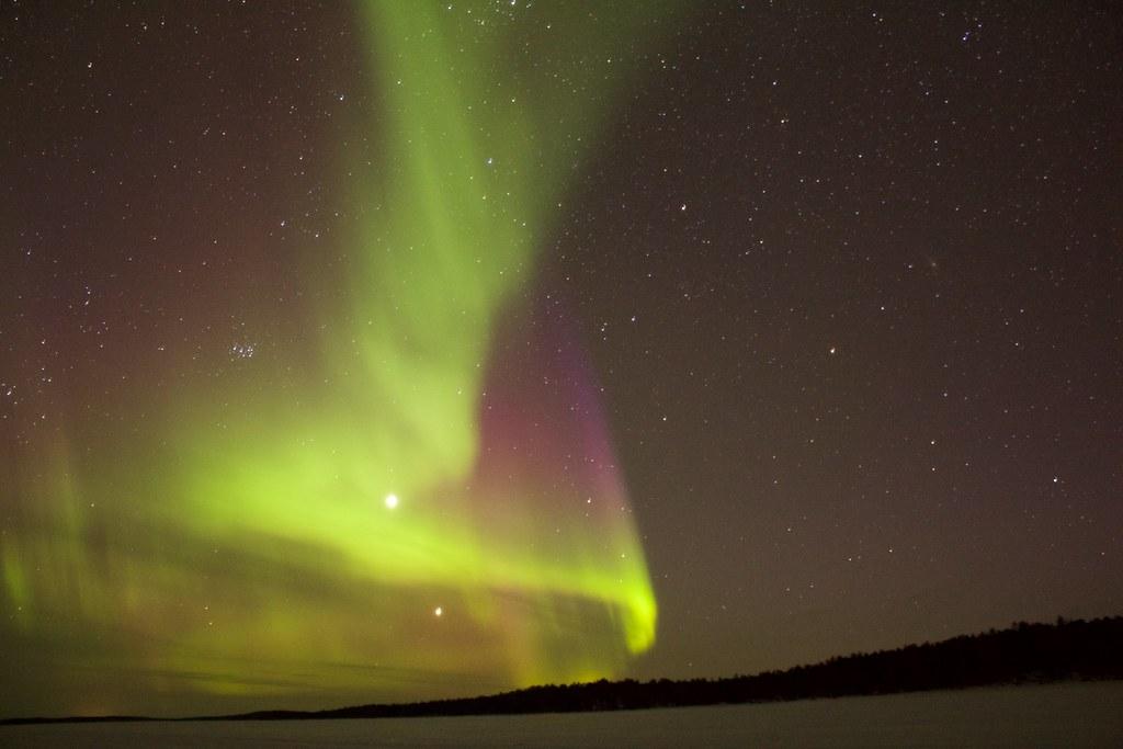 Imagen gratis de una Aurora Boreal y Austral