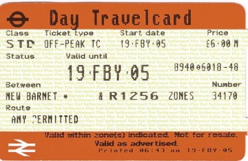 travelcard londra