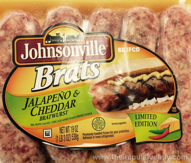 Johnsonville Limited Edition Jalapeno & Cheddar Brats