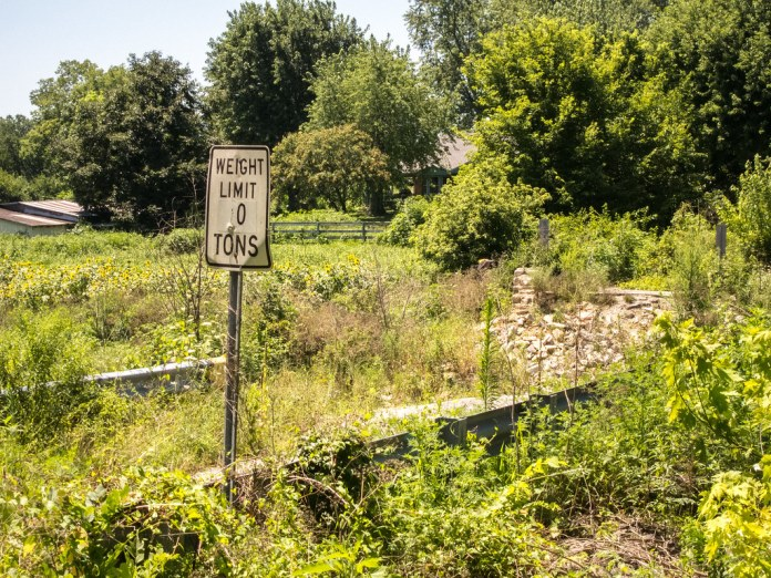 Site of the former Middletown Bridge