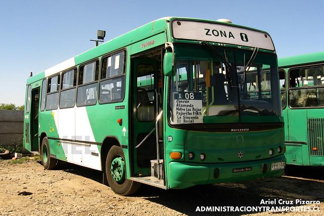 Transantiago - Comercial Nueva Milenio / Buses Vule - Marcopolo Torino / Mercedes Benz (VV6103)