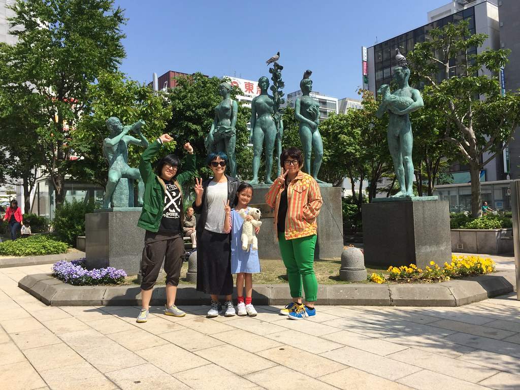 in front of the Sapporo Station
