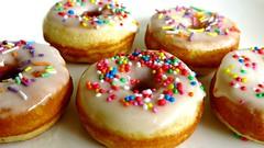 White Glazed Mini Donuts