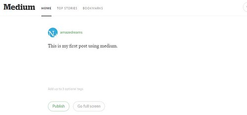 medium blogging software