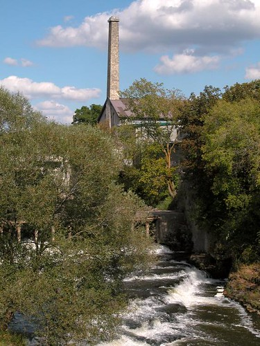 Old Mill on the river at Fergus, Ontario by gnawledge wurker
