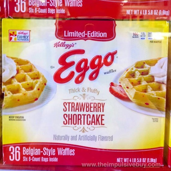 Limited Edition Thick & Fluffy Strawberry Shortcake Eggo Waffles