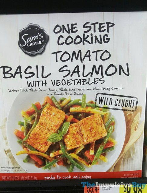 Sam's Choice One Step Cooking Tomato Basil Salmon with Vegetables