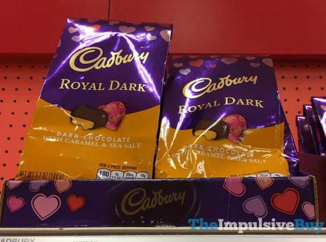 Cadbury Royal Dark Dark Chocolate with Caramel & Sea Salt Hearts