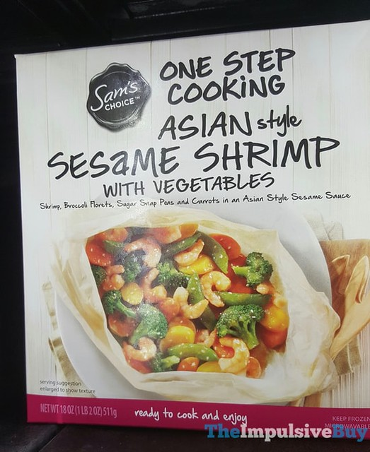 Sam's Choice One Step Cooking Asian Style Sesame Shrimp with Vegetables