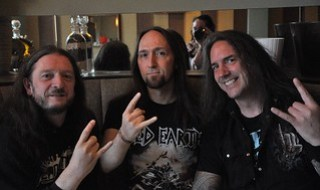 Steve Moore and John 'Harv' Harbinson of Stormzone being interviewed by PlanetMosh
