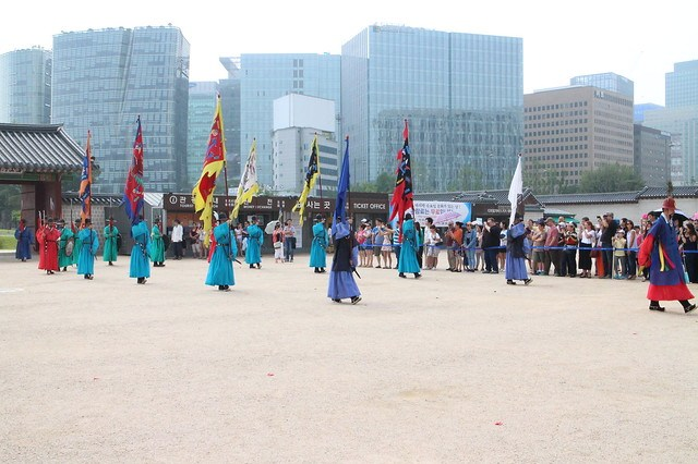 Guard Changing Ceremony at Gyeongbokgung