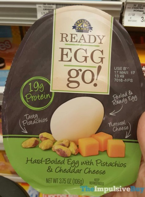 Crystal Farms Ready Egg Go! with Pistachios & Cheddar Cheese