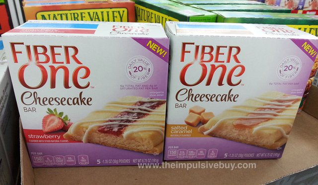 Fiber One Cheesecake Bar (Strawberry and Salted Caramel)